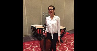 WSHS 9th Grader, Hannah Sheridan performed with the Minnesota Middle Level Honors Orchestra