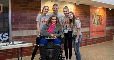 Inspirational speaker Tasha Schuh shares her message with WMS Students